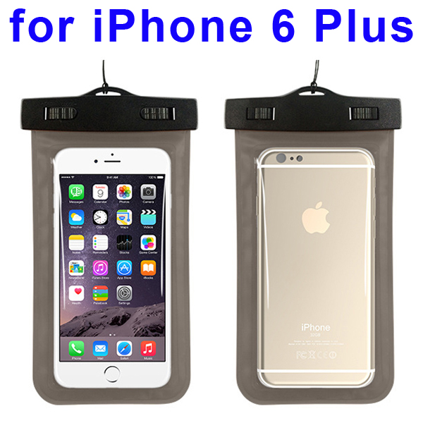 Universal PVC IPX8 Waterproof Bag for iPhone 6 Plus, and Other Smart Phones in Similar Sizes (Grey)