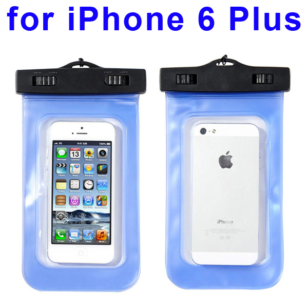 Universal PVC IPX8 Waterproof Bag for iPhone 6 Plus, and Other Smart Phones in Similar Sizes (Dark Blue)