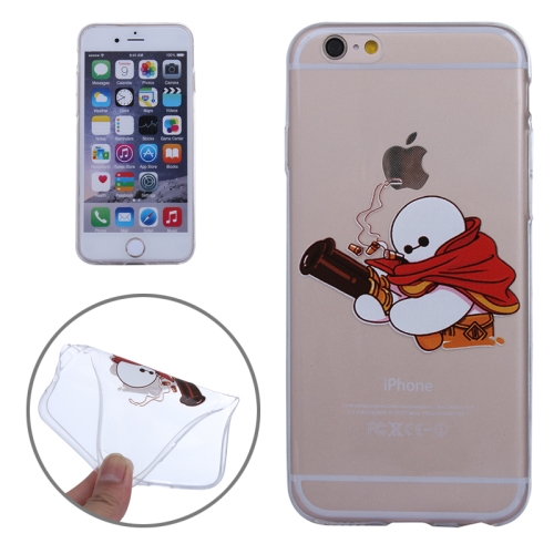 Baymax Ultrathin TPU Protective Phone Case for iPhone 6 Plus (Baymax with Big Gun Pattern)