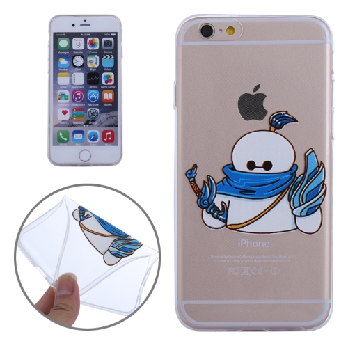 Baymax Ultrathin TPU Protective Phone Case for iPhone 6 Plus (Samurai Baymax Pattern)
