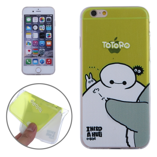 Baymax Ultrathin TPU Protective Phone Case for iPhone 6 Plus (Baymax with Totoro Pattern)