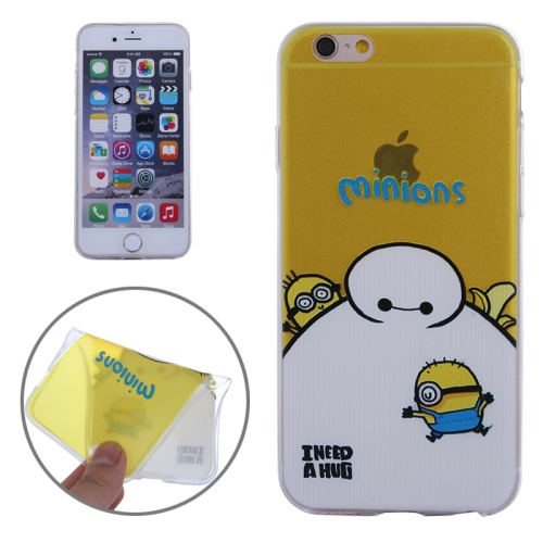 Baymax Ultrathin TPU Protective Phone Case for iPhone 6 Plus (Baymax with Minions Pattern)