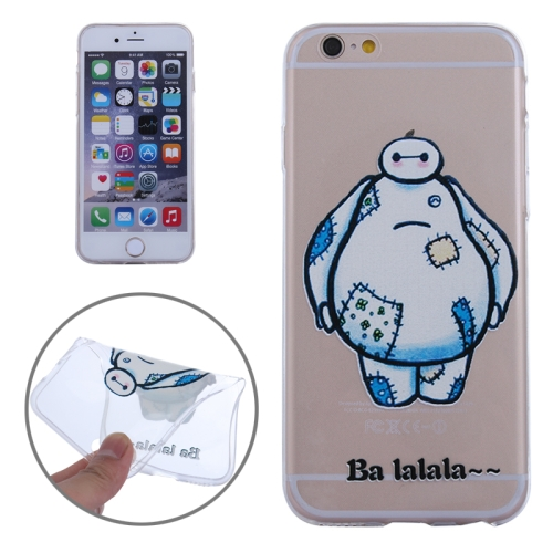Baymax Ultrathin TPU Protective Phone Case for iPhone 6 Plus (Baymax with Patch Pattern)