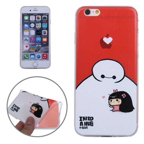 Baymax Ultrathin TPU Protective Phone Case for iPhone 6 Plus (Baymax with Girl Pattern)
