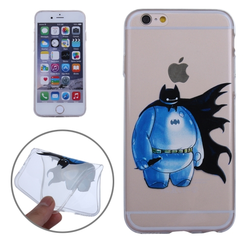 Baymax Ultrathin TPU Protective Phone Case for iPhone 6 Plus (Baymax with Cap Pattern)