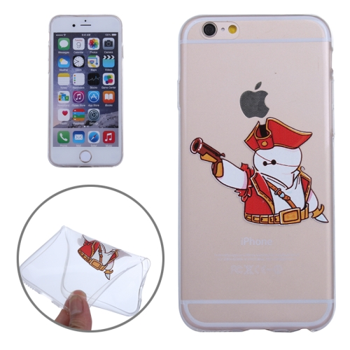 Baymax Ultrathin TPU Protective Phone Case for iPhone 6 Plus (Baymax with Small Gun Pattern)