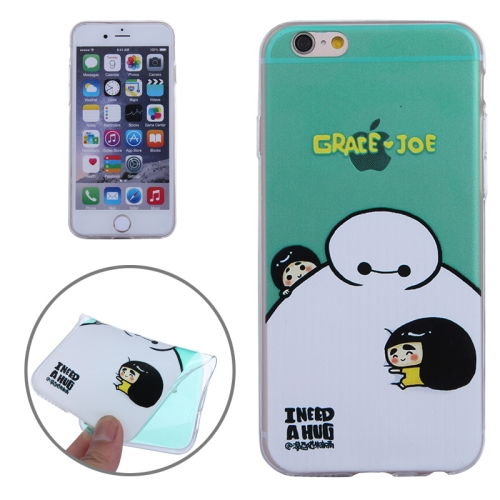 Baymax Ultrathin TPU Protective Phone Case for iPhone 6 Plus (Baymax with Grace Joe Pattern)