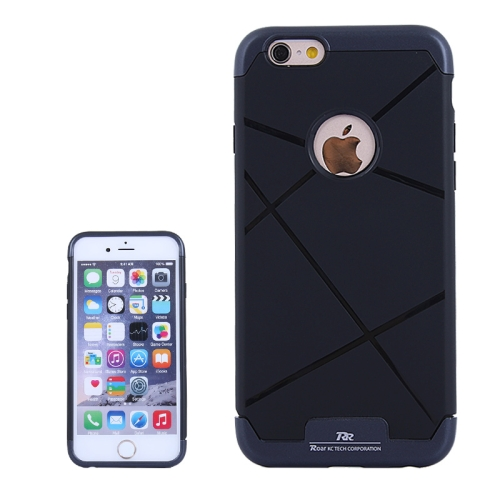 Bicolor Power Bumper Case / Combination Case for iPhone 6 Plus with Card Slot (Black)