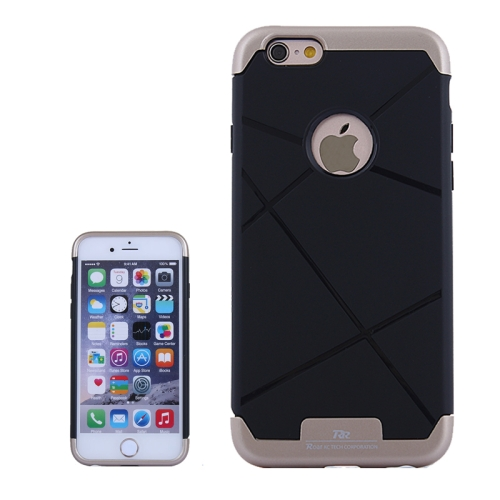 Bicolor Power Bumper Case / Combination Case for iPhone 6 Plus with Card Slot (Brown)
