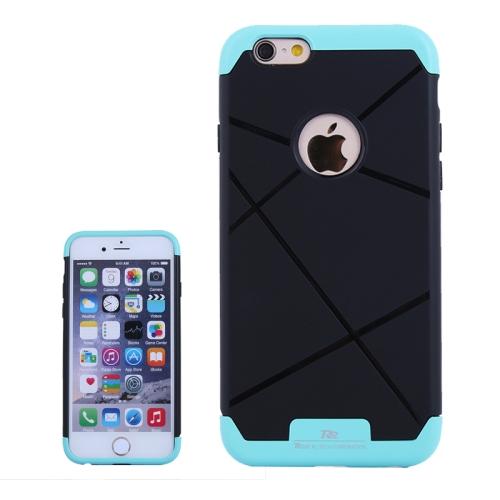 Bicolor Power Bumper Case / Combination Case for iPhone 6 Plus with Card Slot (Blue)