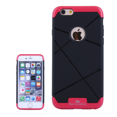 Bicolor Power Bumper Case / Combination Case for iPhone 6 Plus with Card Slot (Red)