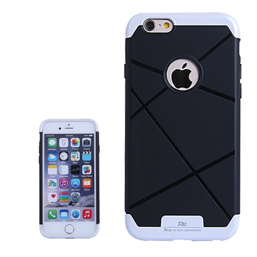 Bicolor Power Bumper Case / Combination Case for iPhone 6 Plus with Card Slot (White)