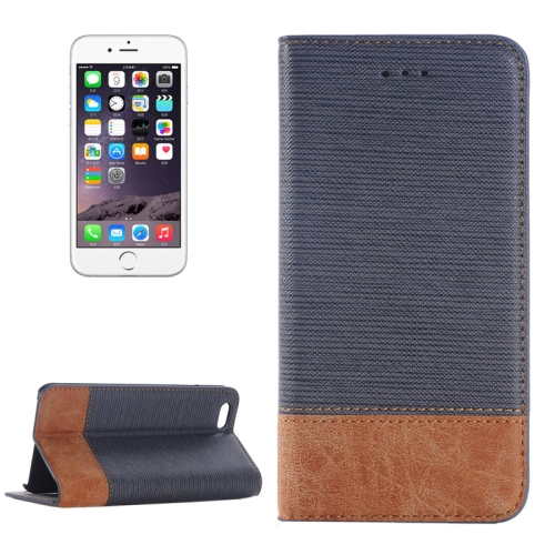 Cross Texture Wallet Style Leather Case for iPhone 6 Plus with Holder and Card Slots (Gray)