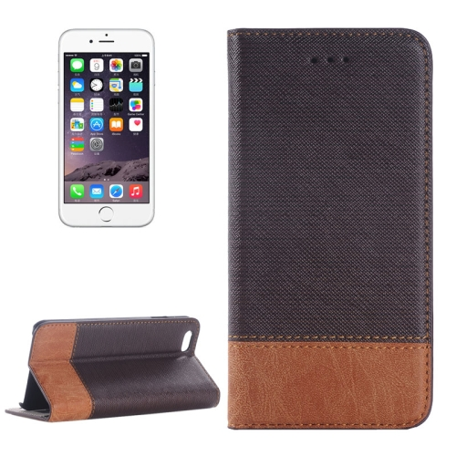 Cross Texture Wallet Style Leather Case for iPhone 6 Plus with Holder and Card Slots (Brown)