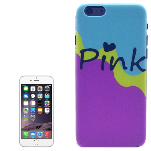 Hot Items Colored Drawing Transparent Frame Protective PC Case for iPhone 6 Plus (Pink Pattern)