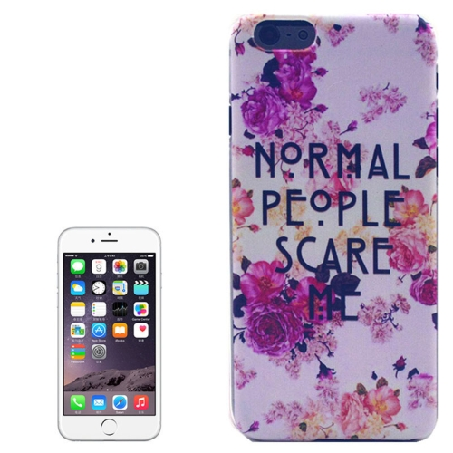 Hot Items Colored Drawing Transparent Frame Protective PC Case for iPhone 6 Plus (People Scare Pattern)
