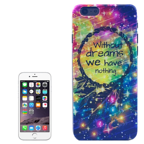 Hot Items Colored Drawing Transparent Frame Protective PC Case for iPhone 6 Plus (Have Nothing Pattern)