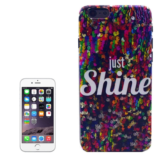 Hot Items Colored Drawing Transparent Frame Protective PC Case for iPhone 6 Plus (Shine Pattern)