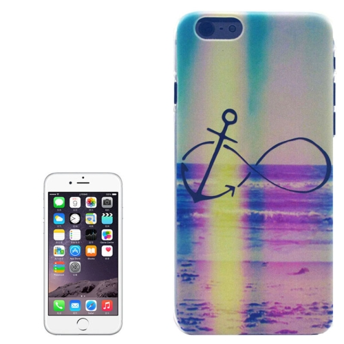 Color Pattern Transparent Frame Colored Drawing PC Case for iPhone 6 Plus (Anchor)