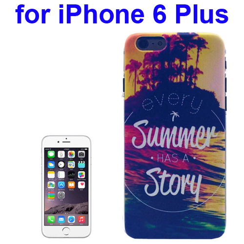 Transparent Frame Colored Drawing PC Case for iPhone 6 Plus (Every Summer Has a Story Pattern)