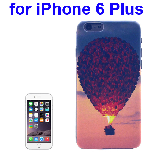Transparent Frame Colored Drawing PC Case for iPhone 6 Plus (Hot-Air Balloon Pattern)