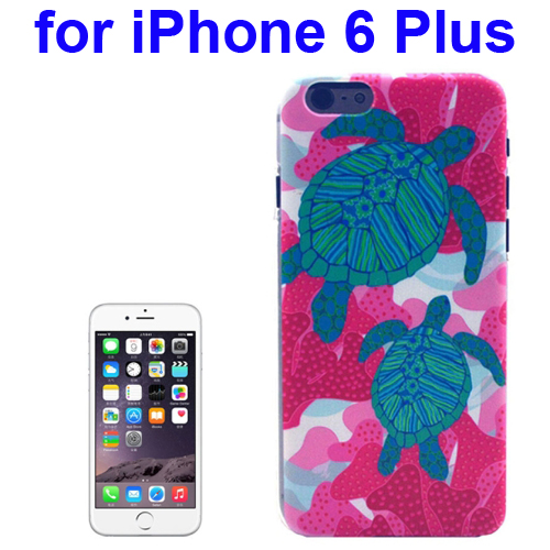 Transparent Frame Colored Drawing PC Case for iPhone 6 Plus (Turtles Pattern)