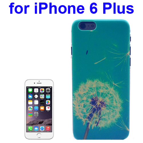 Transparent Frame Colored Drawing PC Case for iPhone 6 Plus (Dandelion Pattern)