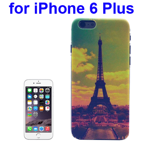 Transparent Frame Colored Drawing PC Case for iPhone 6 Plus (Eiffel Tower Pattern)