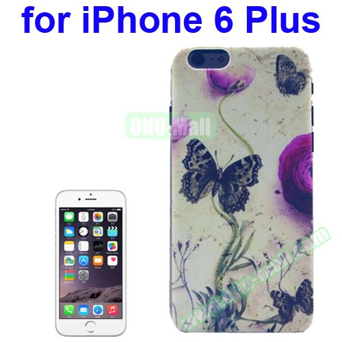 Transparent Frame Colored Drawing PC Case for iPhone 6 Plus (Butterfly Pattern)