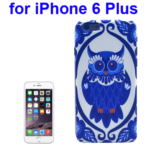 Transparent Frame Colored Drawing PC Case for iPhone 6 Plus (Owl Pattern)