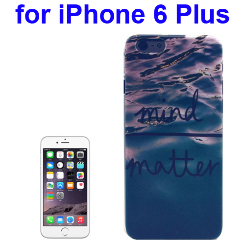 Transparent Frame Colored Drawing PC Case for iPhone 6 Plus (Mind Matter Pattern)