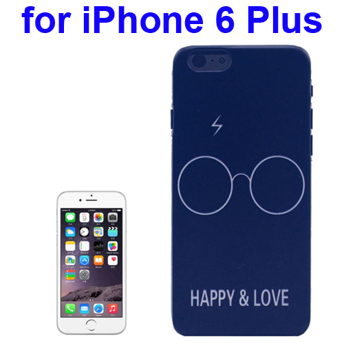 Transparent Frame Colored Drawing PC Case for iPhone 6 Plus (Happy & Love Pattern)