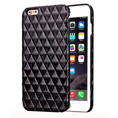 Hot Sales Diamond Pattern Protective Hard Case Cover for iPhone 6 Plus (Black)