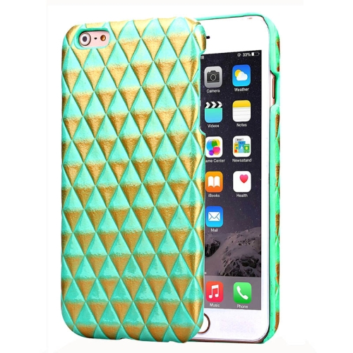 Hot Sales Diamond Pattern Protective Hard Case Cover for iPhone 6 Plus (Green)