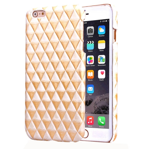 Hot Sales Diamond Pattern Protective Hard Case Cover for iPhone 6 Plus (Golden)