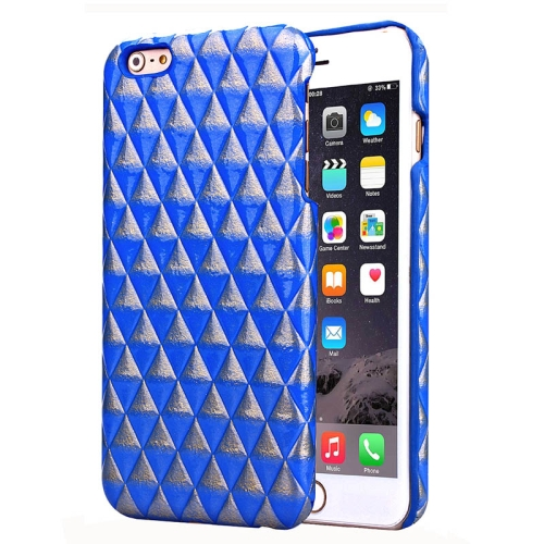 Hot Sales Diamond Pattern Protective Hard Case Cover for iPhone 6 Plus (Blue)