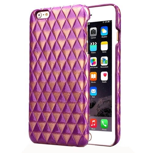 Hot Sales Diamond Pattern Protective Hard Case Cover for iPhone 6 Plus (Purple)