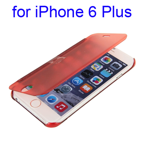 Horizontal Flip Design Protective Hard PC Case for iPhone 6 Plus (Red)