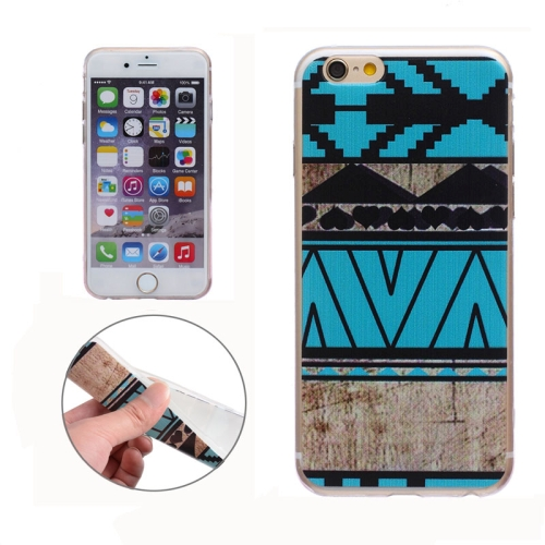 Soft TPU Protective Back Cover for iPhone 6 Plus (Tribe Pattern)