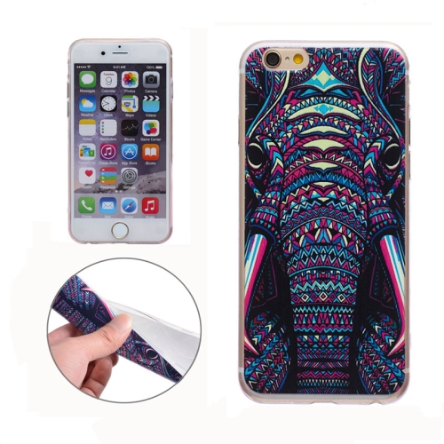 Soft TPU Protective Back Cover for iPhone 6 (Elephant)