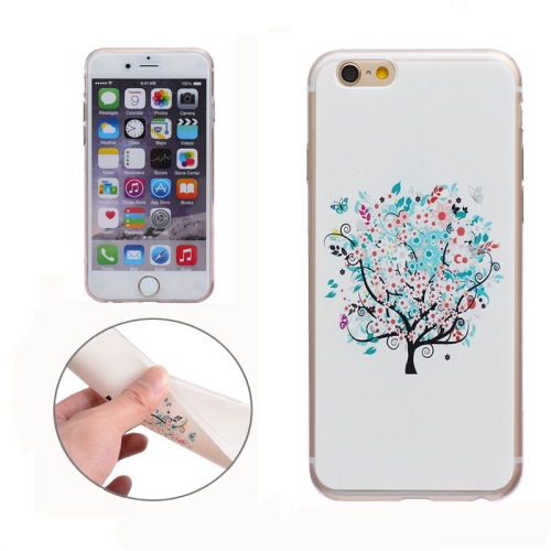 Soft TPU Protective Back Cover for iPhone 6 Plus (Little Tree)