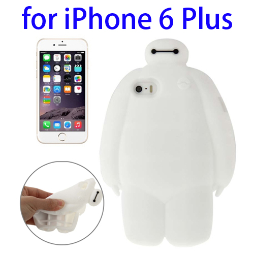 Soft Protective Back Silicone Cover Case for iPhone 6 Plus (White)