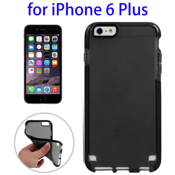 Ultrathin Concise Style Basketball Texture Protective TPU Case for iPhone 6 Plus (Black)