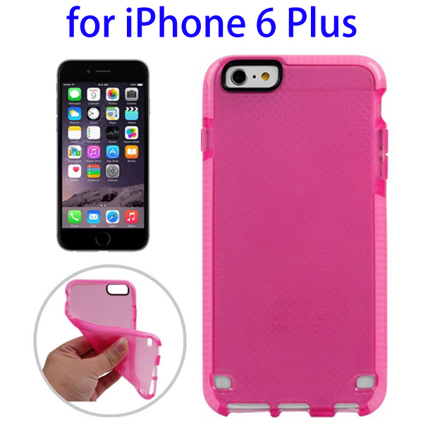 Ultrathin Concise Style Basketball Texture Protective TPU Case for iPhone 6 Plus (Rose)