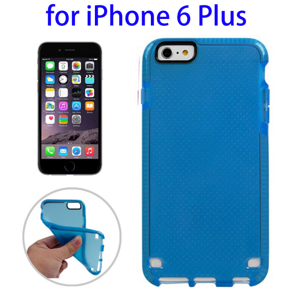 Ultrathin Concise Style Basketball Texture Protective TPU Case for iPhone 6 Plus (Blue)