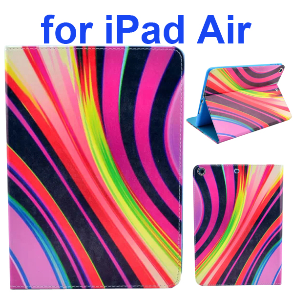 Color Printing Style PU Leather Flip Smart Cover for iPad Air (Space Design)