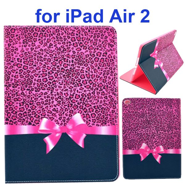 Color Printing Design PU Flip Leather Case for iPad Air 2 with Stand and Card Slots (Gift Box)