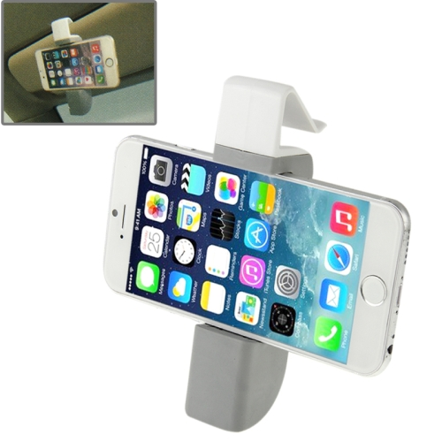 Universal Portable ABS Car Airvent Mount Holder for 3.5-6.3 inch Smartphones (Grey + White)