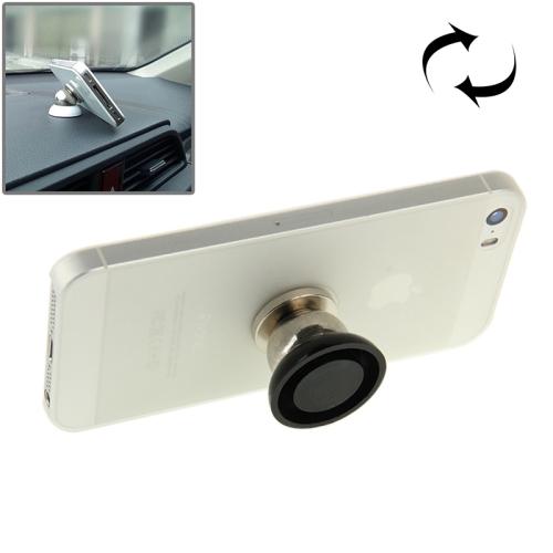 360 Degree Rotating Magnetic Mini Car Holder for Mobile Phone (Black)