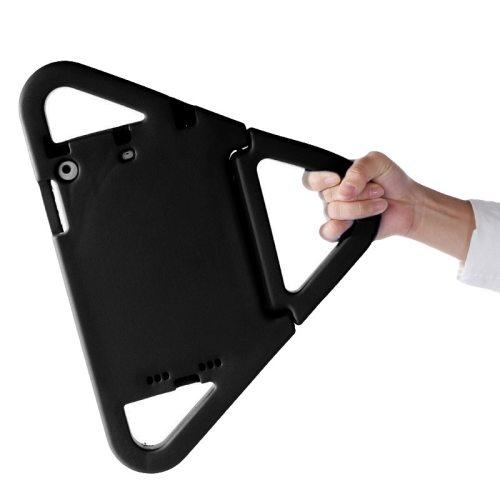 EVA Triangle Bumper Portable Protective Case with Handle & Holder for iPad Mini 1 / 2 / 3 (Black)